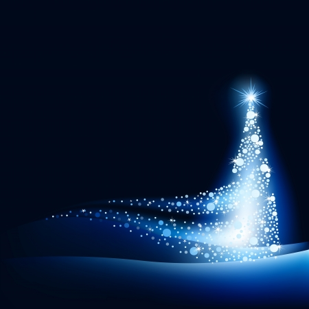 christmas blue: Abstract Christmas Tree - Background Illustration