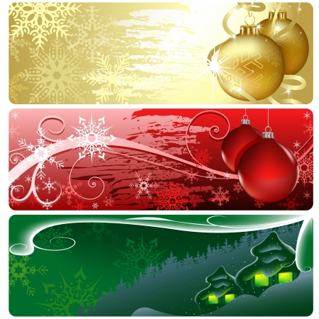 Christmas Banner - Xmas Set Stock Vector - 15170429