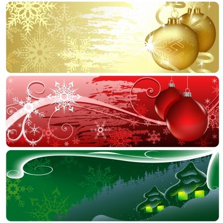 banner backgrounds: Christmas Banner - Xmas Set