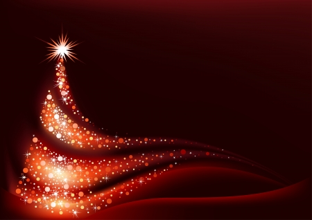 Abstracte Kerstboom - Achtergrond Stock Illustratie