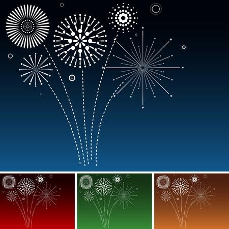 Fireworks - Background Illustration Illustration