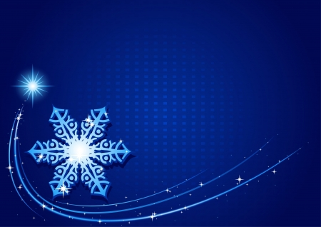 Blue Christmas Snowflake - Background Illustration Illustration
