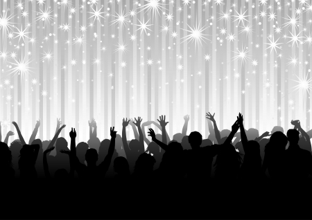 cheer up: Crowd on the Party - Background Illustration, Vector