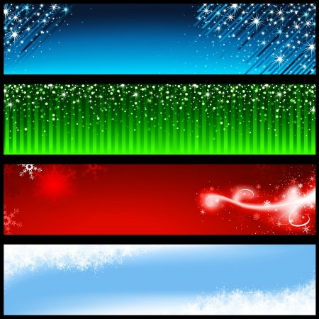 banner floral: Holiday Banners