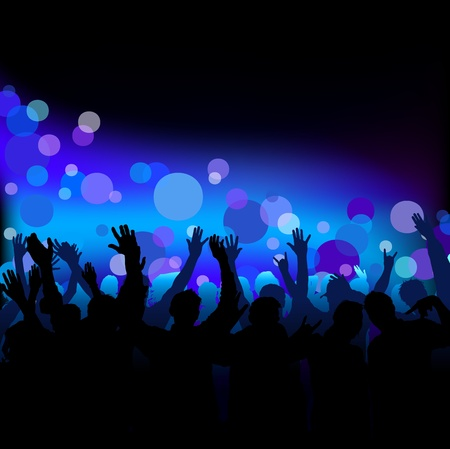 party club: Dance Party - Night Club Life as Vector Background Illustration