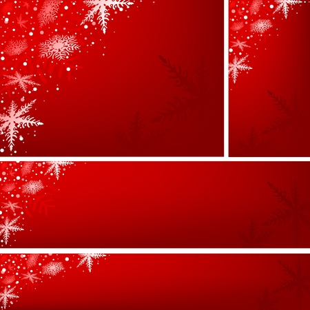 Red Xmas Banners Stock Vector - 15332764