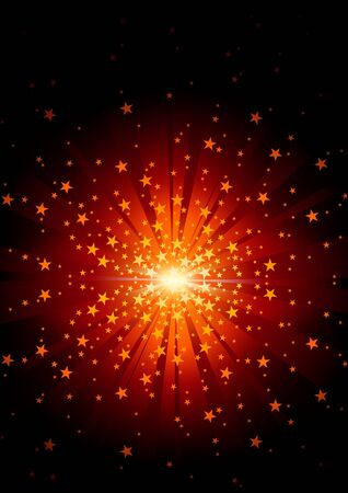 spot lit: Star Burst - Abstract Background Illustration