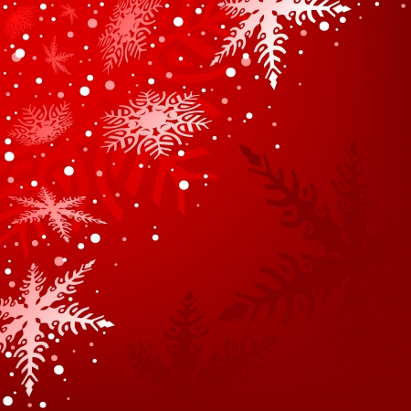 Red Xmas Background - Christmas Illustration