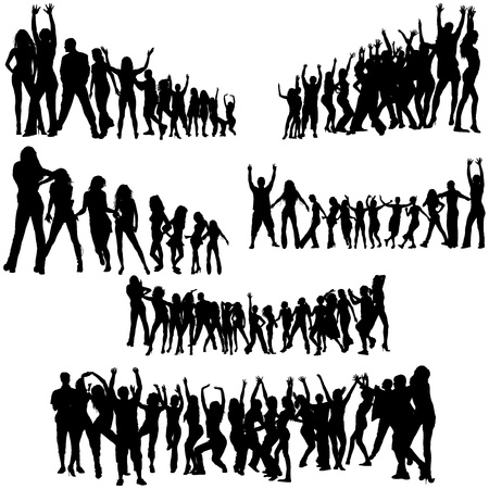 cheering: Crowd Silhouettes