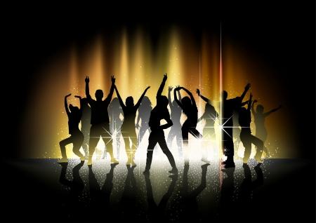 Spectacle de danse et la lumière - Fond de partie Vecteurs