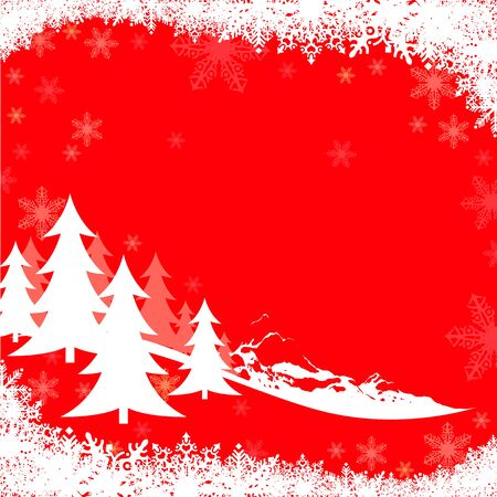 Red Christmas Greeting - Xmas Illustration  Stock Vector - 15424065