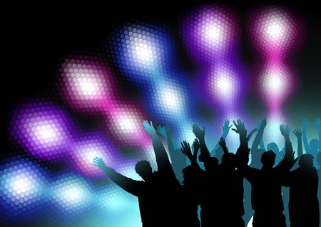 Colored Nightlife - Dance Party Background Stock Vector - 15430813