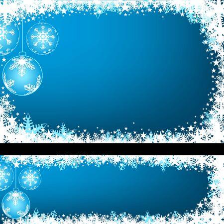 Blue Christmas Greeting - Xmas Illustration Illustration