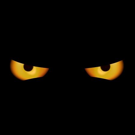 dark eyes: Devil Eyes - Spooky Background Illustration Illustration
