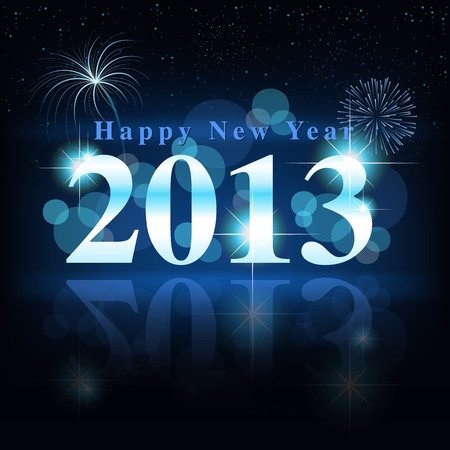 Happy New Year - Celebration Card Stock Vector - 15694552