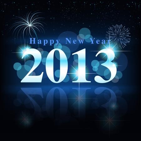 Happy New Year - Celebration Card Stock Vector - 15694552