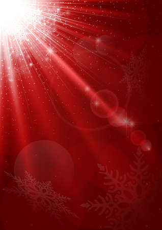 Abstract Christmas Background - Red Xmas Illustration illustration
