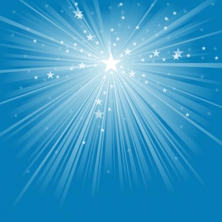 Licht Stralen en Sterren - Abstracte Achtergrond