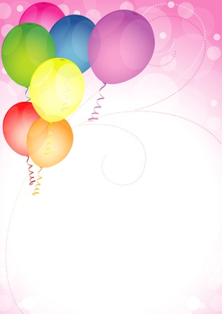 colored balloons: Happy Birthday Balloons