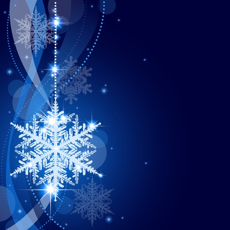 Winter Christmas Background - Abstract Xmas Illustration
