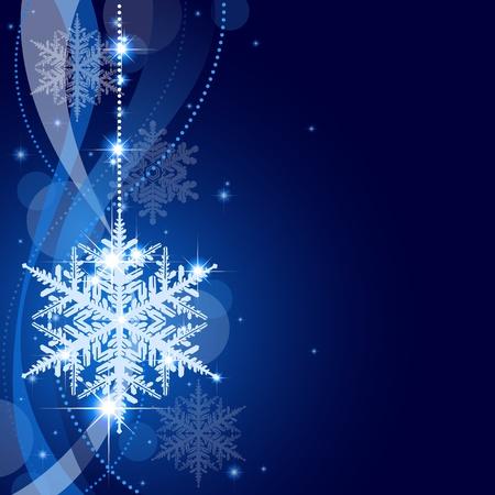 Winter Kerst Achtergrond - Abstract Xmas Illustratie