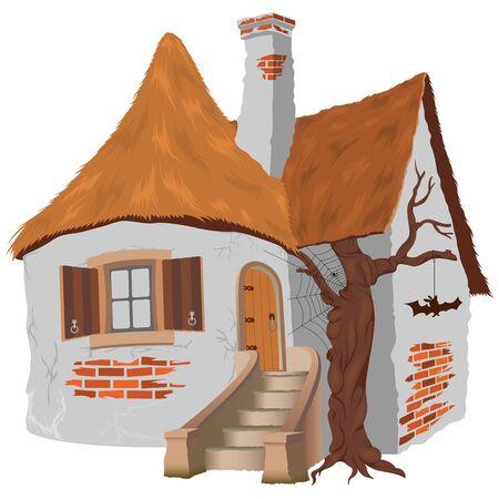 Sprookje Cottage Stock Illustratie