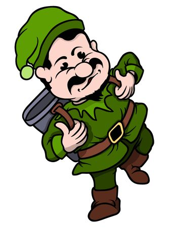 Elf Miner - Cartoon Character illustration Vector