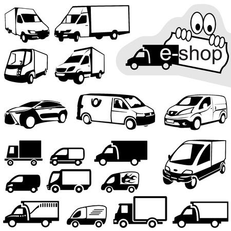 trucking: Shipping Icons Set