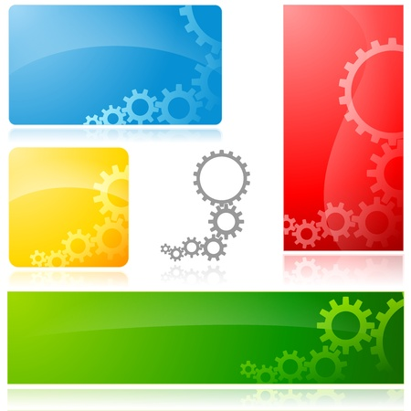 cog gear: Cogwheel Banner - Abstract illustration
