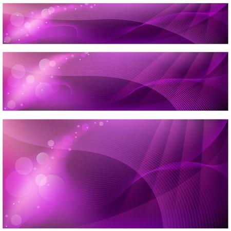 fondos violeta: Fondos - 3 Banners