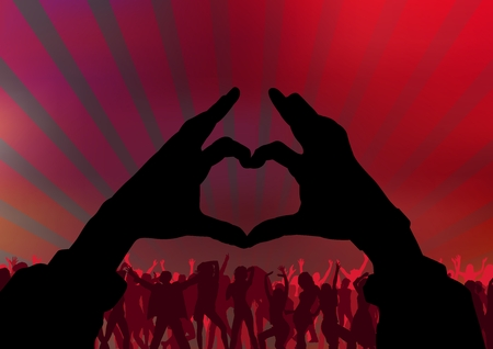 I Love Party - Background With Dancing Audience