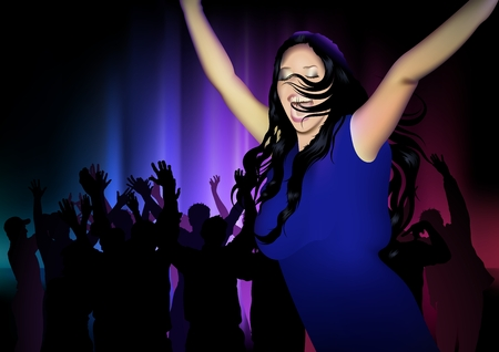 dancing club: Dance Club And Dancing Girl - Dance Party Background