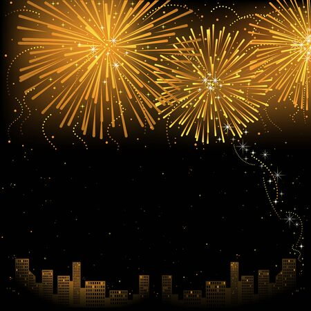 Fireworks - Background Illustration, Vector Vector
