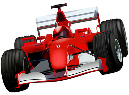 car: Race Car - illustrazione colorata Vettoriali
