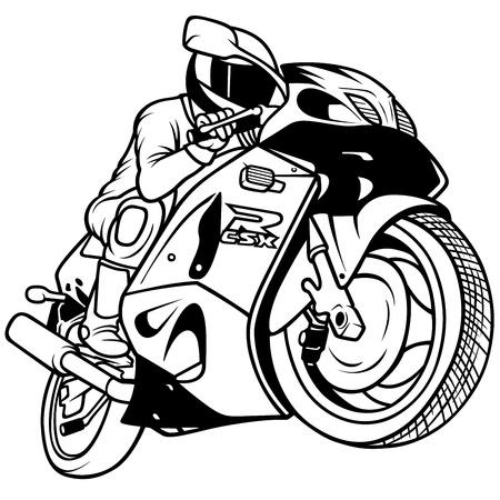 racing: Motorcycle Racing - Hand Drawn Illustration