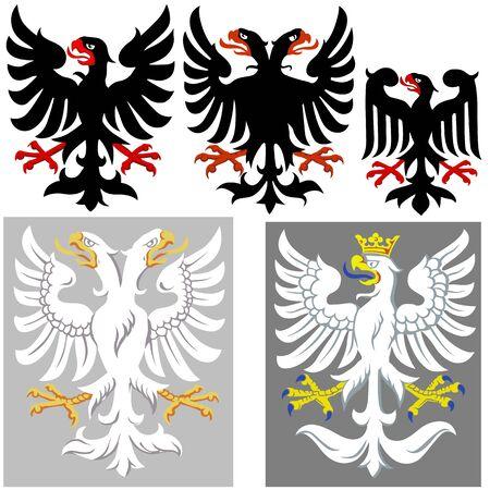 edad media: Heráldicos Eagle - Colored Ilustraciones