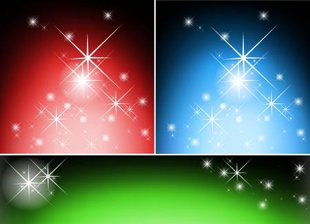 website backgrounds: Lightning Stars Set - Abstract Website Backgrounds Illustration, Vector