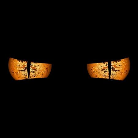 Devil Eyes - Spooky Background Illustration, Vector