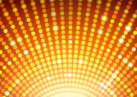 Disco Ball Background - Abstract Disco Lights Round Illustration, Vector