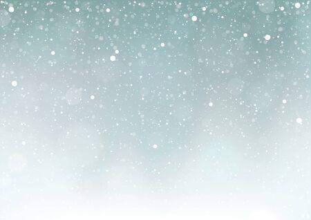 neige qui tombe: Snow Falling - Contexte Illustration, vecteur