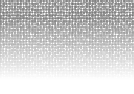 monochromatic: Abstract Dotted Background - Mosaic Disco Pattern, Vector Illustration Illustration