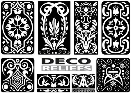 cartouche: Ornament Calligraphy Set - Black Illustrations, Vector