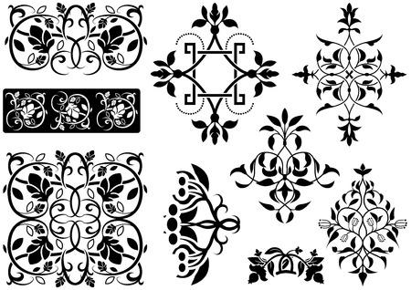 headliner: Ornamental Decoration - Black Illustrations, Vector