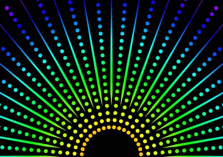 rainbow vector: Dotted Rainbow Background - Abstract Illustration, Vector Illustration