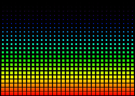 squared: Squared Rainbow Background - Abstract Illustration, Vector