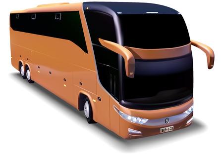 coachwork: Longdistance bus  Detailed Illustration Vector Illustration
