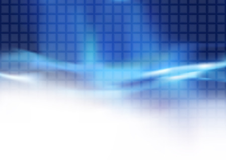 light beams: Abstract Blue Tiled Background and Flowing Light Beams Illustration