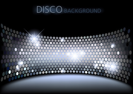 disco backdrop: Disco Background  Abstract Illustration Vector