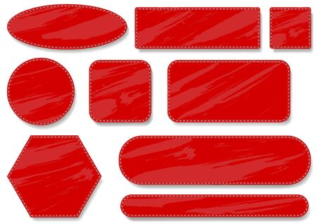 matting: Coser Rojo Set Label - Elementos de dise�o