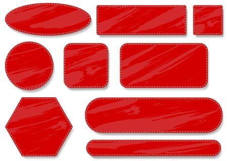 blotchy: Sewing Red Label Set - Design Elements